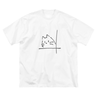 窓辺 猫 Big silhouette T-shirts