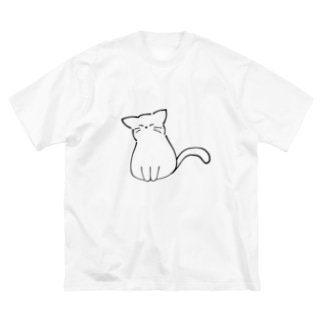 ふくふく 猫 Big silhouette T-shirts