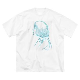 がーるず(ヨ) Big silhouette T-shirts