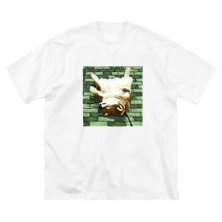 拒否犬 Big silhouette T-shirts