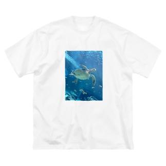ビッグシルエットTシャツ【ウミガメ】 Big silhouette T-shirts