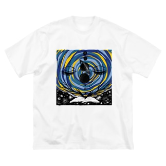 Open the book - 宇宙 Big silhouette T-shirts