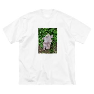グリッチ雨合羽 Big silhouette T-shirts