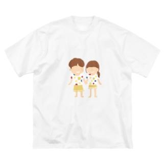 Soragasukiのカップル Big silhouette T-shirts