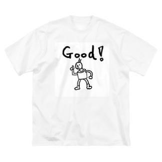 ぐっどロボ Big silhouette T-shirts