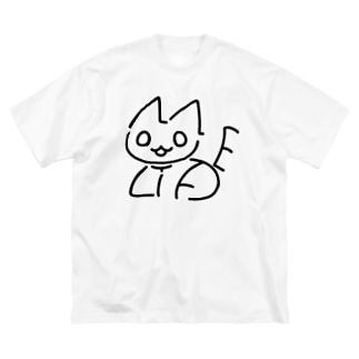 NO CAT NO LIFE 香箱 Big silhouette T-shirts