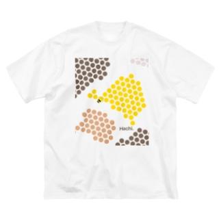 Hachi.4 Big silhouette T-shirts