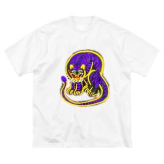ビレイダオのネオン 虎ちゃん Big silhouette T-shirts