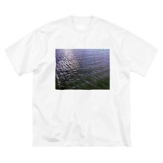 海に帰りてえょ(山よりもどちらかと言えば) Big silhouette T-shirts