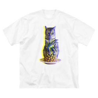 ほごにゃんパイにゃポー2020・夏 Big silhouette T-shirts