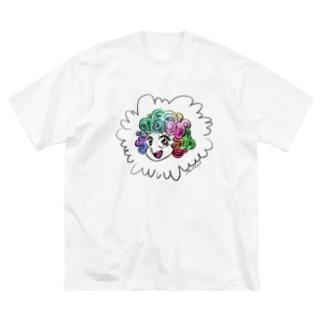 カラフルヘアー Big silhouette T-shirts