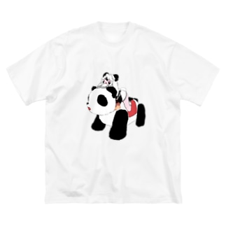 時速10mで生きるちゃん Big silhouette T-shirts