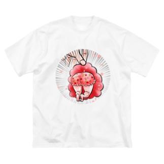 いちごぱんつ香澄 Big silhouette T-shirts