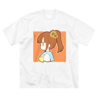 ひまわりポニテちゃん Big silhouette T-shirts