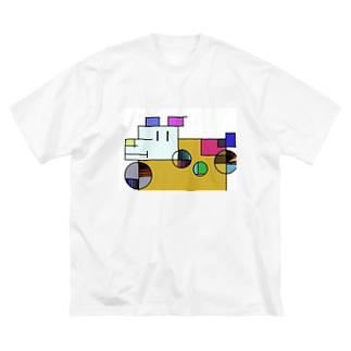 ざっしゅいぬ Big silhouette T-shirts