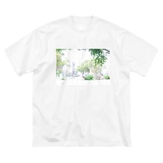 白飛公園 Big silhouette T-shirts