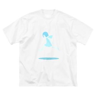 みずいろのてんし Big silhouette T-shirts