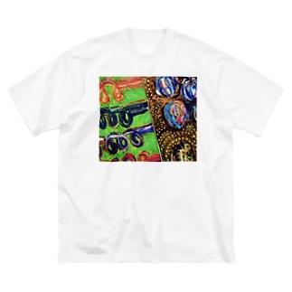 植物のやつ Big silhouette T-shirts