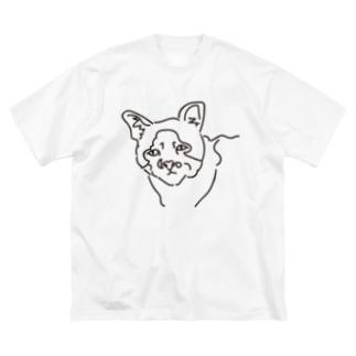 愛くるしいブサイクすぎる猫 Big silhouette T-shirts