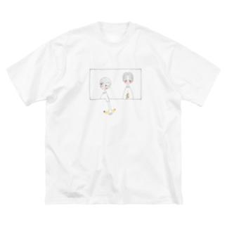 ふたりのばなな Big silhouette T-shirts