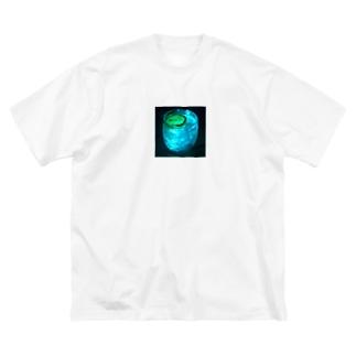 私とお酒と金曜日 Big silhouette T-shirts