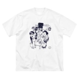 しあわせジョン×アトリ コラボTシャツ Big silhouette T-shirts