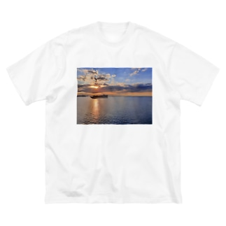 God Sunset Big silhouette T-shirts