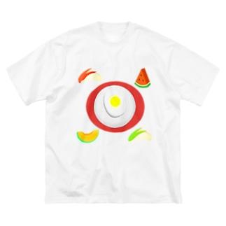 盛岡冷麺四季報 Big silhouette T-shirts