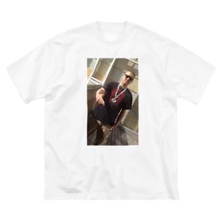俺のガンフィンガー2 Big silhouette T-shirts