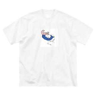 人魚の変なとこ測っちゃお Big silhouette T-shirts