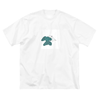 わんこの変なとこ測っちゃお Big silhouette T-shirts