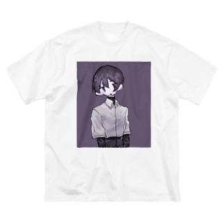篁匡は見つめる Big silhouette T-shirts