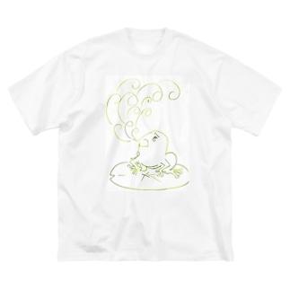 モヤモヤガエル Big silhouette T-shirts