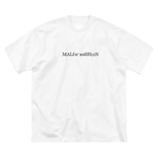 MALFORMATION 黒/DB_24 Big silhouette T-shirts