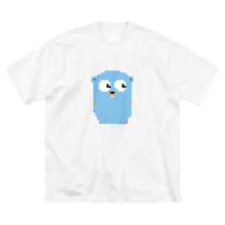 ピクセルGopherくん Big silhouette T-shirts