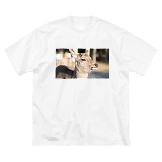 奈良公園のシカ Big silhouette T-shirts