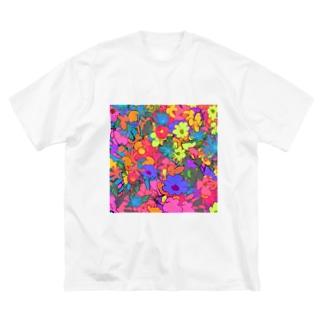 ハナガラ Big silhouette T-shirts