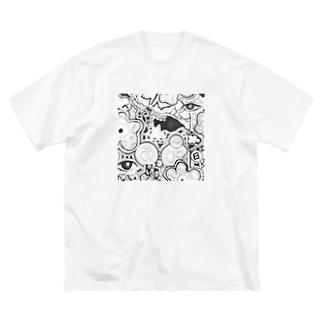 とべる、 Big silhouette T-shirts