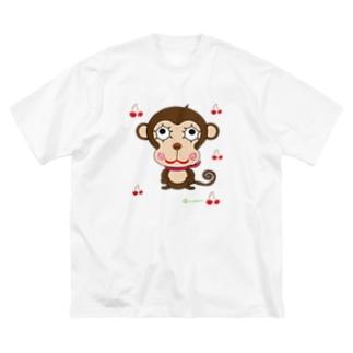 MONKY POP丸ヨ風 Big silhouette T-shirts