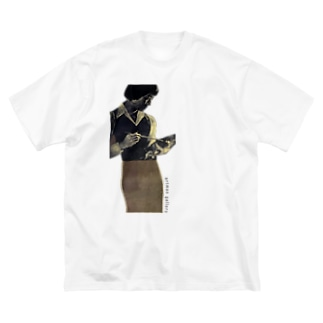 女性とパレット Big silhouette T-shirts