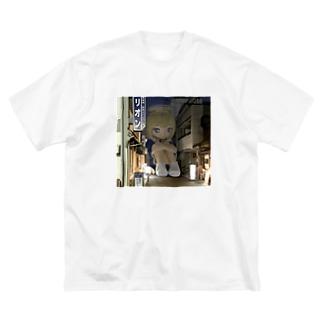 独り Big silhouette T-shirts
