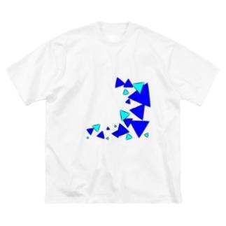 青三角 Big silhouette T-shirts