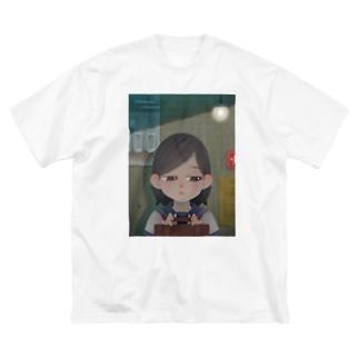 待ち合わせ Big silhouette T-shirts