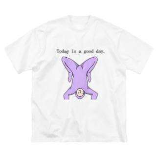 紫人間です。 Big silhouette T-shirts
