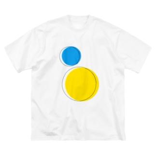 線から出ても良いよ Big silhouette T-shirts