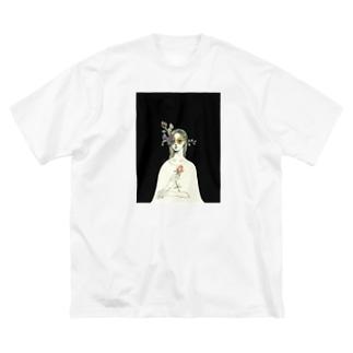 春の夜 Big silhouette T-shirts