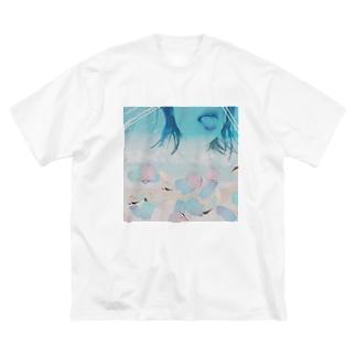 つばきさんのおかお Big silhouette T-shirts
