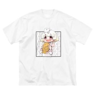 ぱくぱくぱくぱ Big silhouette T-shirts