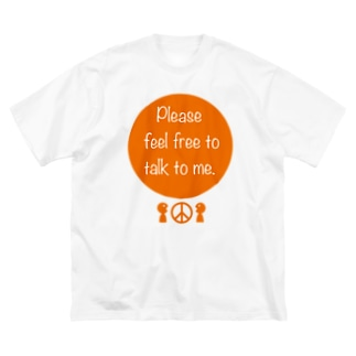 みんなのステッカーの気軽に話しかけてね! Big silhouette T-shirts