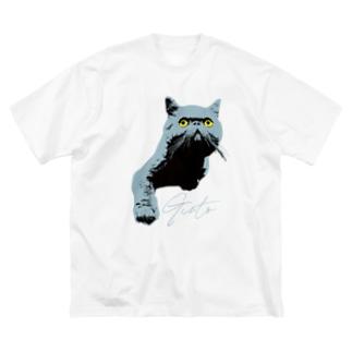 むむむ Big silhouette T-shirts